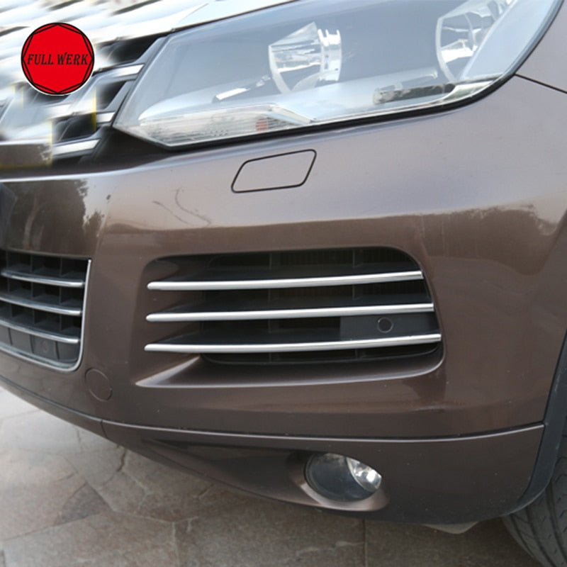 Unique Stainless Steel Front Fog Light Protectors Decorations