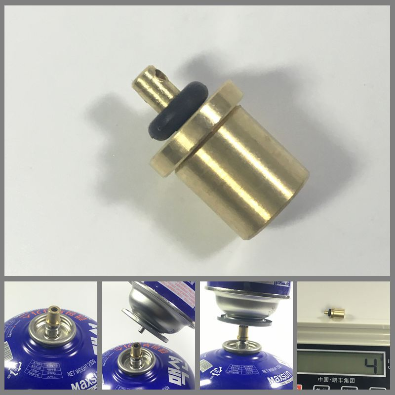 2Pcs Blue Camping Stove Connector Gas Refill Adapter for Butane Canister