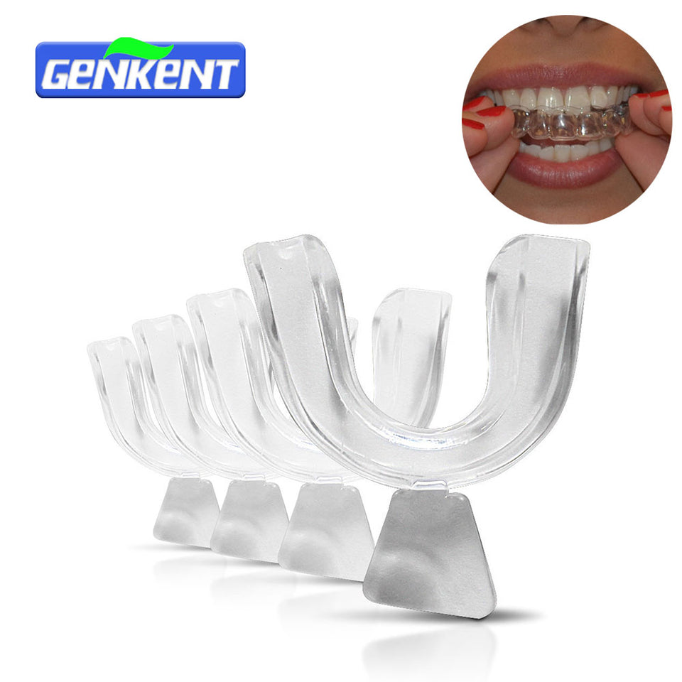 Genkent 2 Pairs Thermoforming Dental Mouthguard Teeth Whitening Trays Bleaching Tooth Whitener Mouth Guard Care Oral Hygiene