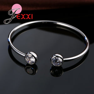 Genuine Fine 925 Sterling Silver Charming Jewelry Bracelet Bangles Women Fashion Accessories Factory Price