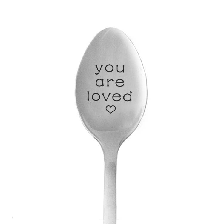 Gift for girlfriend Stainless Steel Spoon You are Loved boyfriend gift valentines day prezent anniversary supply