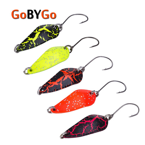 GoByGo 5PCS Mini 3.5g Spoon Fishing Lure 30mm Metal Jigging Lure Baits Hard Fishing Tackle Crankbait Jig Swimbait Pesca