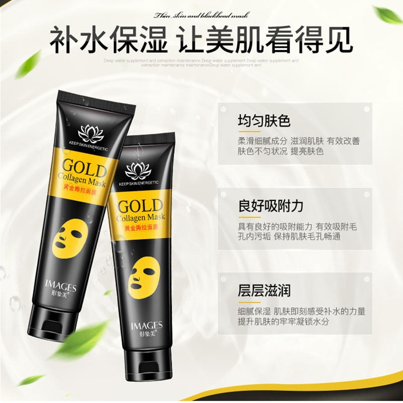 Gold Collagen Peel Off Mask Face Tear off Whitening Lifting Firming Skin Anti Wrinkle Anti Aging Facial Mask Black Head Care