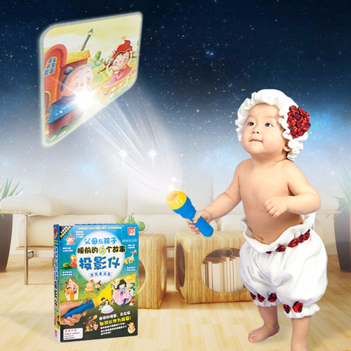 HBB Fairy Tales Sleeping Story Light Projector Flashlight Toys Kids Educational Toy