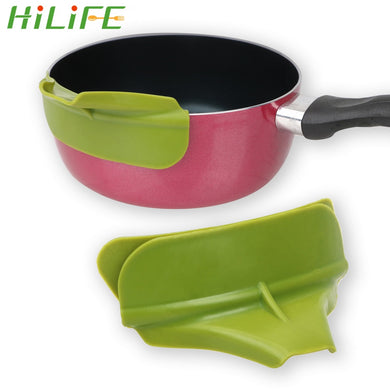 HILIFE Silicone Liquid Flow Nozzle Pans Leakproof Tools Soup Funnel Tools Practical Cookware Edge Deflector Kitchen Accessories