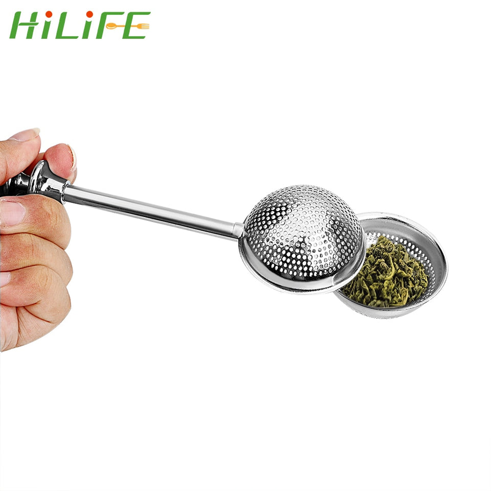 HILIFE Tea Strainer Ball Spice Tea Tool Accessories Stainless Steel Teapot Adjustable Reusable Tea Infuser Filter Easy To Clean