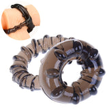 HWetR Silicone Penis Cock Ring Dual Men Male Soft Time Delay Ring Lasting Product Lover Sexy Toy Game Tool Party Body Jewelry