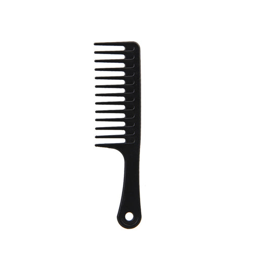 Hair Brush Wide Tooth Comb Black ABS Plastic Heat-resistant Large Wide Tooth Comb For Hair Styling Tool 24.5cm