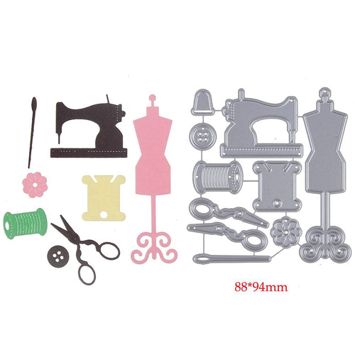 HamyHo Handmade Cards Sewing Machine Frame Stencil Metal Cutting Die for DIY Scrapbooking Paper Album Card Embossing Dies Crafts