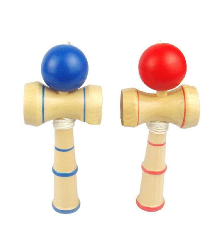 High Quality Kid Kendama Coordinate Ball Japanese Traditional Wood Game Skill Educational Toy