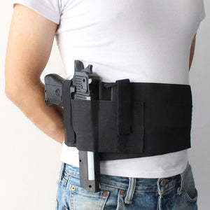 High Quality Left Right hand Tactical Adjustable Elastic Belly Waist Band Pistol Gun Holster