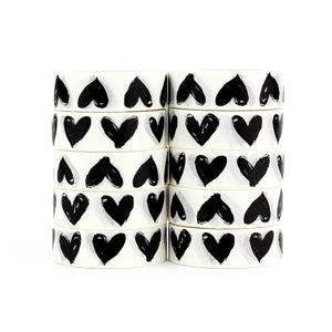 High quality 10pcs/lot Black and White Heart Washi Tape DIY Decor Scrapbooking Planner Adhesive Masking Tape Kawaii Stationery