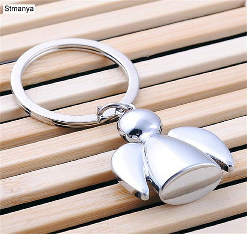 Hot Angel Couple Key chain Men Gift Car Key Ring Women Angel Metal Keychain lovers group Patry Jewelry key holder