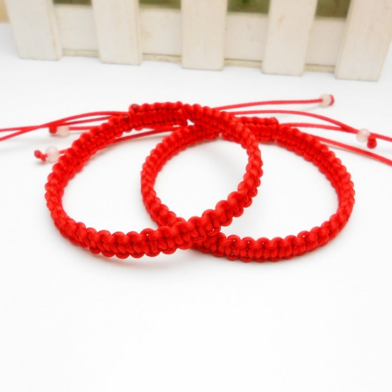 Hot sale Red Thread Rope lucky Bracelet Hand Stretch knot Woven Women Men Charm Bracelets lovers' Best gift Friendship Bangles