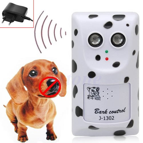 Humanely Ultrasonic Stop Control Dog Barking Anti No Bark Device Silencer Hanger EU Plug