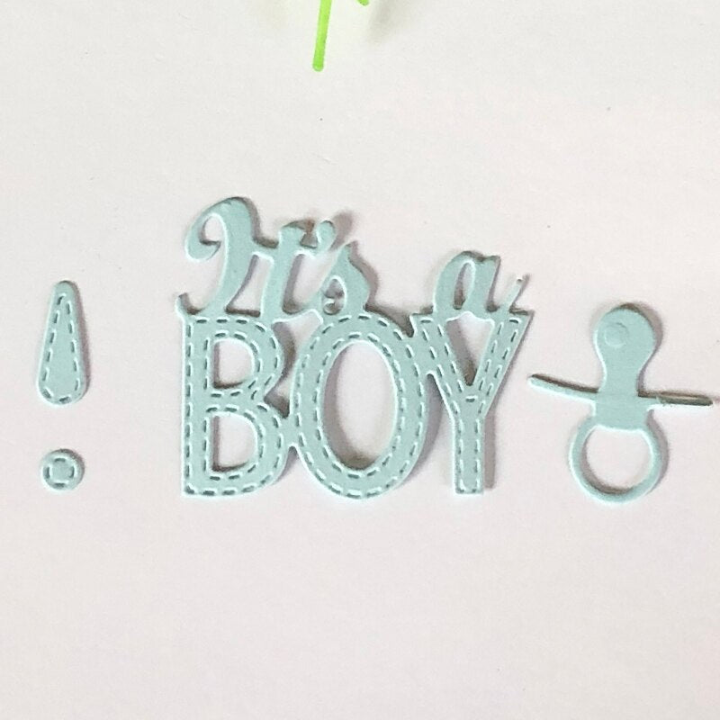 It is a Boy Metal Cutting Dies for Scrapbooking DIY Album Embossing Folder Paper Card Maker Template Decor Stencils Crafts Dies