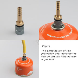 Stove Gas Burner Safe Valve Switching Adapter LPG Liquefied Gas Cylinder Camping