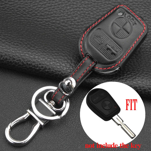Jingyuqin Remote Car Key Case for BMW E31 E32 E34 E36 E38 E39 E46 Z3 3 Buttons Leather Key Case Cover Styling
