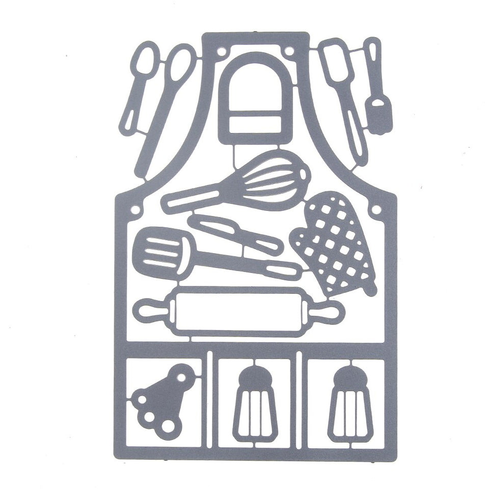 Kitchen Apron Dies Metal Cutting Dies for DIY Cards Making Scrapbooking Dies Cuts Photo Album Art Cut Die Knife Mold 85*129MM