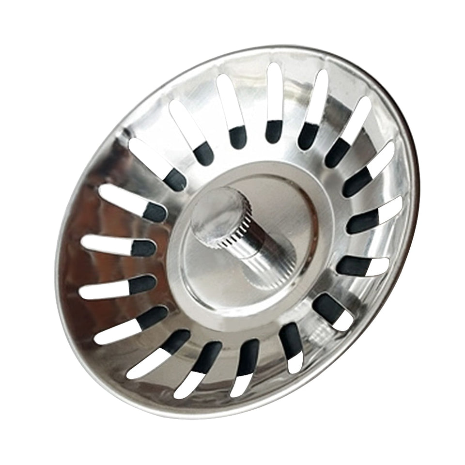 Kitchen Sink Bath Shower Bathroom Plug Food  Hair Strainer Drainer Block Cover Kitchen Sink Strainer Stopper Waste Plug Sink