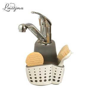 LMETJMA Plastic Hanging Sponge Holder Basket Kitchen Sink Soap Sponge Holder Cleaning Brush Storage Organizer Holder KC0905-4