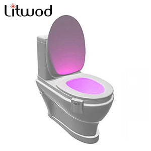 Litwod Sensor 2 in 1 Motion Activated night light LED Lamp lantern Human PIR 8 Colours Automatic Night lighting novelty light