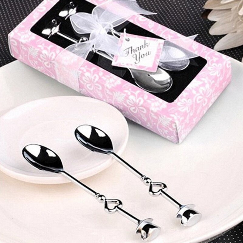 Love Tea Coffee Drinking Stainless Steel Spoon Teaspoon Bridal Shower Wedding Party Favor Lover Valentine's Gift