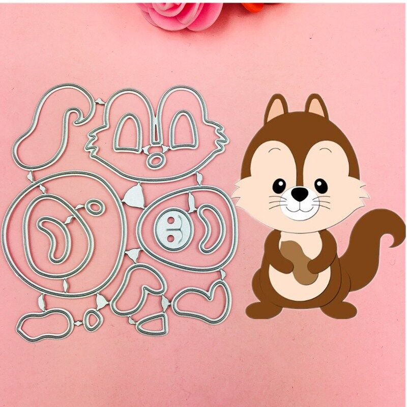 Lovely Squirrel Boy Cutting Dies Stencils for DIY Scrapbooking/photo album Decorative Embossing DIY Paper Cards