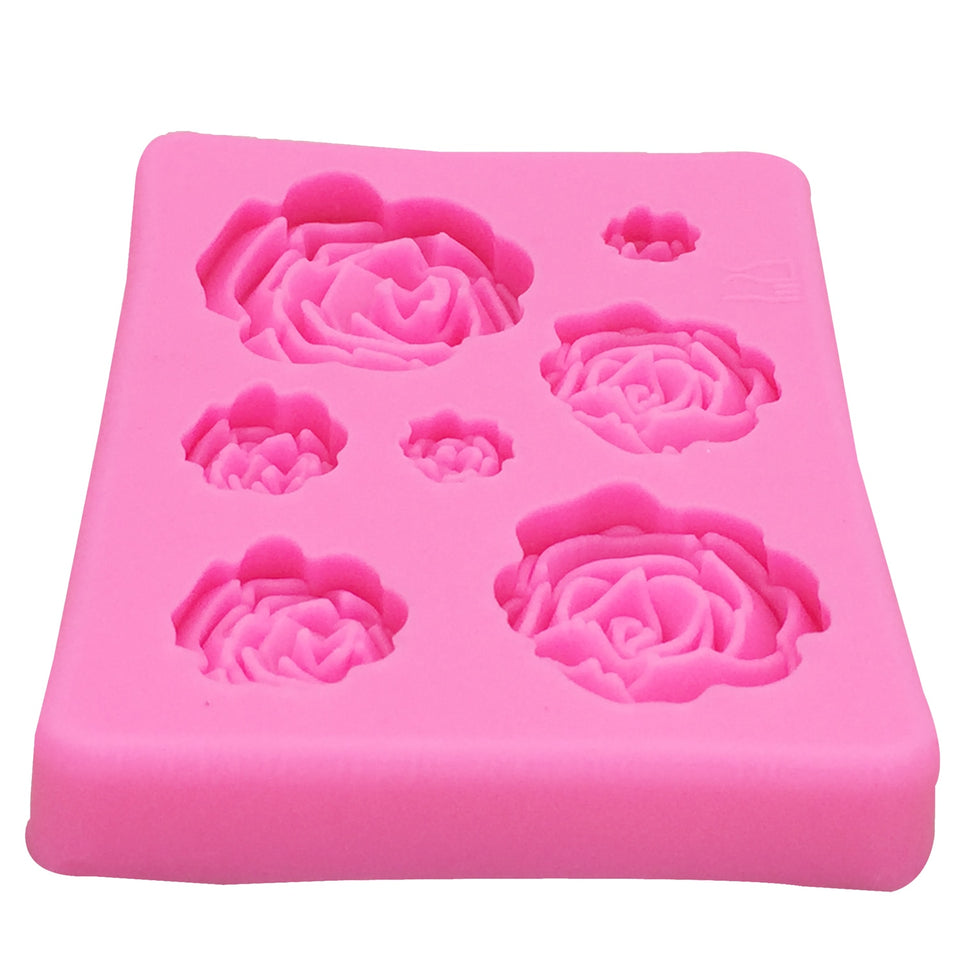 M1023 Rose Flowers silicone mold Cake Chocolate Mold wedding Cake Decorating Tools Fondant Sugarcraft Cake Mold