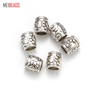 MEIBEADS 20pcs/lot 10*9mm Beaded Material Beads Ancient Silver Bear Paw Beads Alloy Jewelry Accessories UF5133