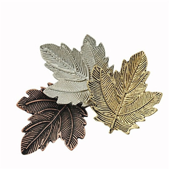 MISANANRYNE Vintage Broches Mujer Pin Leaf Brooch Gold Color Brooches Pins Exquisite Collar For Women Dance Party Accessories