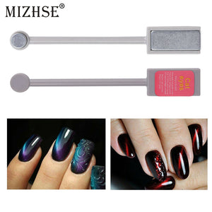 MIZHSE 1pcs Magnet Stick 3D Magic Effect For Cat Eye Gel Polish Varnish Nail Tool Shining Sticker Dual End Replaceable Nail Art