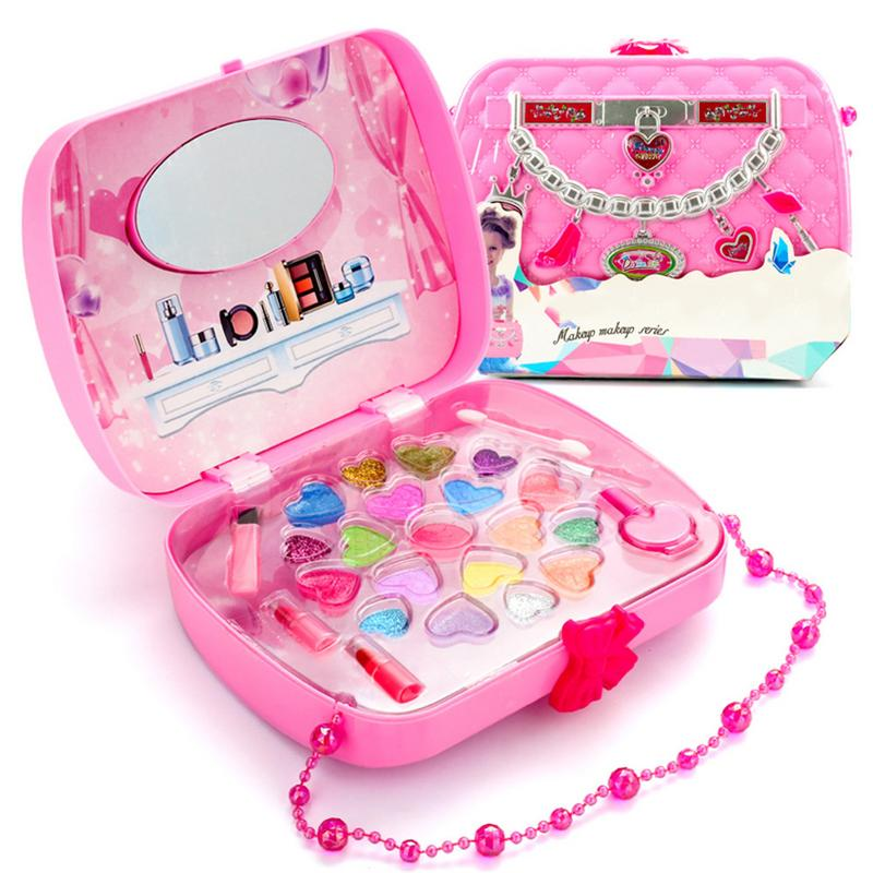 Make Up Toy Pretend Play Kid Makeup Set Safety Non-toxic Makeup Kit Toy for Girls Dressing Cosmetic Travel Box Girls Beauty Toy