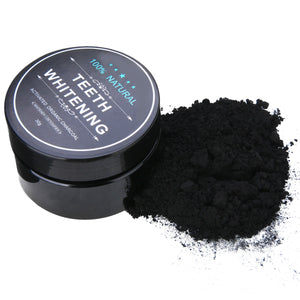 Mayitr 1 Set Carbon Coco Natural Organic Teeth Whitening Powder Coconut Charcoal Tartar Removal Coffee Stains For