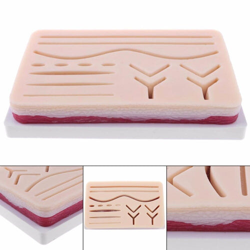 Medical Suture Training Kit Human Traumatic Skin Model Suturing Practice Training Pad Set Doctor Nurse TraumaTeaching Resources