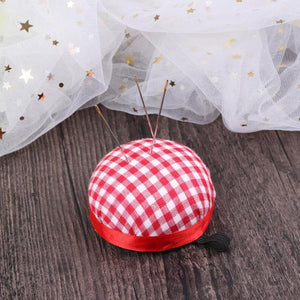 Mini Ball Shaped Needle Pin Cushion DIY Handcraft Cross Stitch Embroidery Needles Holder with Elastic Waist Belt