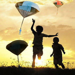 Mini Parachute Toy Hand Throwing Soldier Paratrooper Style Parachute Toys Outdoor Sports Children Educational Toys Chrismas Gift
