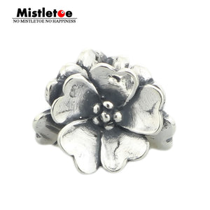 Mistletoe Genuine 925 Sterling Silver Apple Blossom Charm Beads Fit European Troll 3 mm Bracelet & Necklace Jewelry