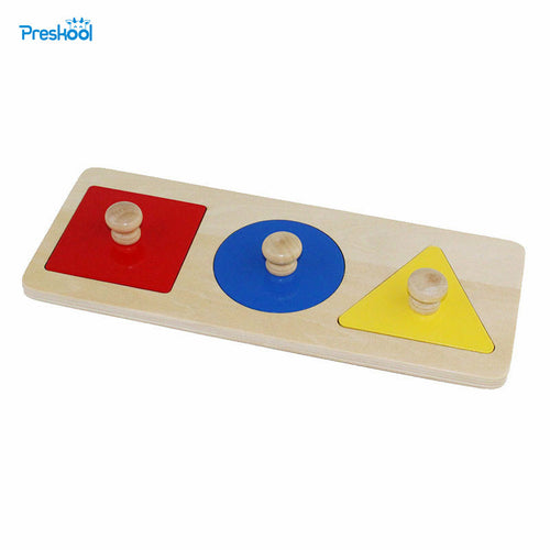 Montessori Infant Baby teaching aids puzzle toy Baby wooden color graphic cognitive Puzzle Preschool teaching aids 24 months