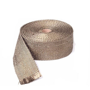 Motorcycle 10m Titanium Fiberglass Exhaust Header Pipe Heat Wrap Tape+6 Ties Kit Cruiser Chopper Cafe Racer Old School Bobber