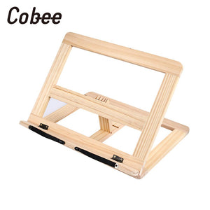 Multi-Function Sleek Adjustable Wooden Book Holders Stand For iPad And Computer Stand Improve Reading And Prevent Diseases