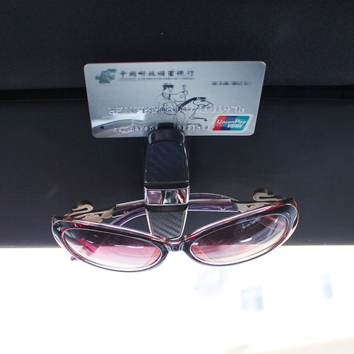 Multifunction Sunglass Holder Car Eyeglass Glasses Clip Case Car Glass Holder Auto Sun Visor Card Clamp Automobiles Accessories