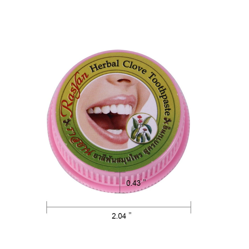 Natural Herbal Clove Thailand Toothpaste Tooth Whitening Toothpaste Remove Stain Antibacterial Allergic Tooth Paste