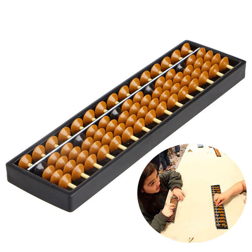 1Pc Plastic Abacus 15 Digits Arithmetic Tool Kid's Math Learn Aid Caculating Toys Educational Toys Gift
