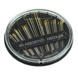 30PCS Assorted Hand Sewing Needles Embroidery Mending Craft Quilt Sew Case 2019