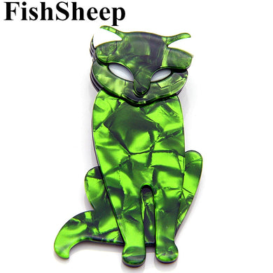 Acrylic Fox Brooches And Pins For Women Ladies Resin Cats Animal Brooch For Scarf Badges Fashion Female Accessories Gifts