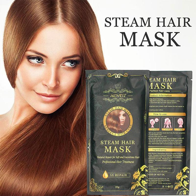 Aliver Automatic Repair Heating Steam Hair Mask Smoothing Moisturizing Oil For Hair Treatments Dry Pure Scalp Hair Care Mask