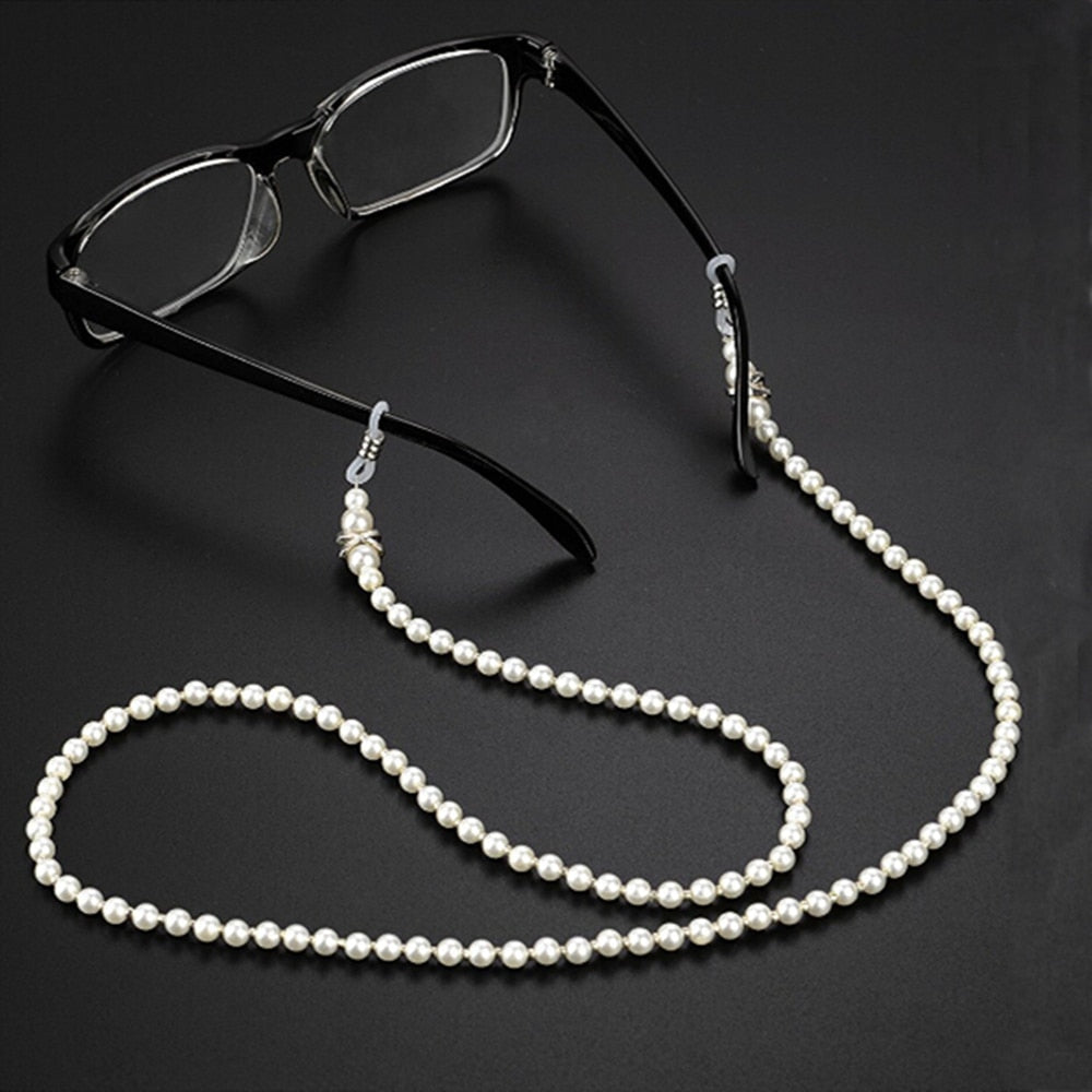 Sunglasses Chain Wearing Neck Holding Beaded Lanyard Cord For Reading Glasses Eyeglasses Holder Rope Accessories