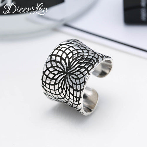 s 925 Sterling Silver Big Rings for Women Adjustable Size Ring Fashion sterling-silver-jewelry