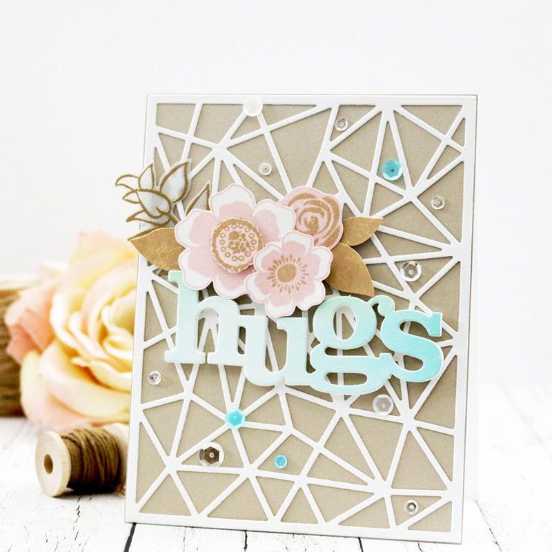 Word Party Metal Die Cuts For DIY Scrapbooking Photo Album Decor Crafts